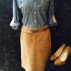 BOGO 80s Vintage Margaret Godfrey Suede Skirt, 14